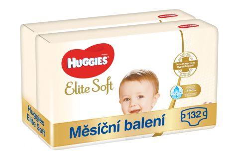 HUGGIES Elite Soft 4 (132 ks) měsíční balení - jednorázové pleny