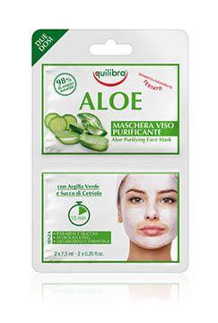 EQUILIBRA Aloe čistící pleťová maska 2 x75ml