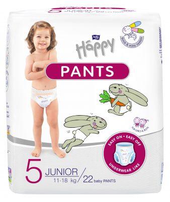BELLA HAPPY Pants Junior (11-18 kg) 22 ks - jednorázové pleny
