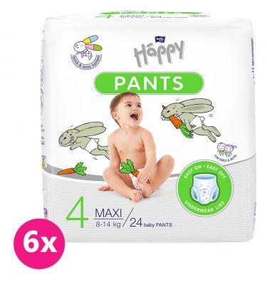 BELLA HAPPY Pants Maxi (8-14kg) 144 ks MĚSÍČNÍ BALENÍ – jenorázové pleny