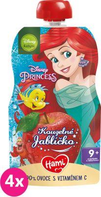 4x HAMI Disney Princess ovocná kapsička Kouzelné Jablíčko 110 g, 9+