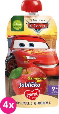 4x HAMI Disney Cars ovocná kapsička Šampionů Jablíčko 110 g, 9+