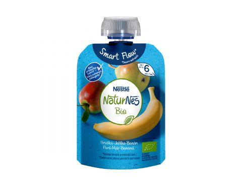 NESTLÉ Naturnes Bio kapsička Hruška, jablko, banán, 90 g