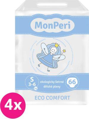 4x MONPERI ECO Comfort S (3-6 kg) 66 ks – jednorázové pleny
