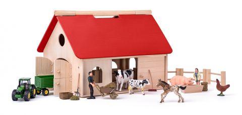 WOODY Farma s příslušenstvím a zvířaty