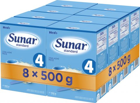 8x SUNAR Standard 4 (500g) – kojenecké mléko