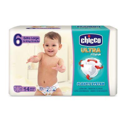 CHICCO Chicco Ultra Extra Large (16-30 kg) 14 ks - jednorázové pleny