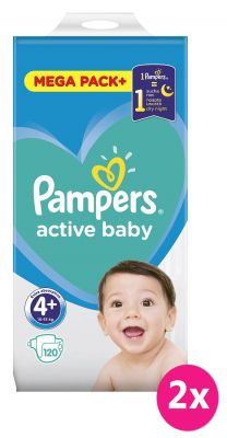 2 x PAMPERS Active Baby 3 (6-10 kg) 152 szt. MEGA PACK – pieluchy jednorazowe