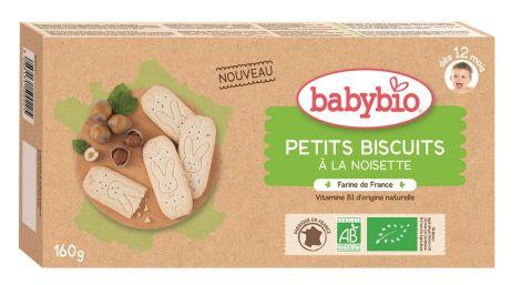BABYBIO Sušenky s lískovými oříšky (160 g)