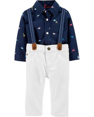 CARTER'S Set 2dílný košile, kalhoty Dinosaur chlapec 24 m/vel. 92