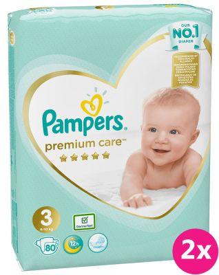 PAMPERS Premium Care 3 MIDI (6-10 kg) 160 ks Jumbo Pack – jednorázové pleny