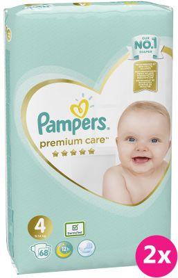 PAMPERS Premium Care 4 MAXI (9-14 kg) 136 ks Jumbo Pack – jednorazové plienky