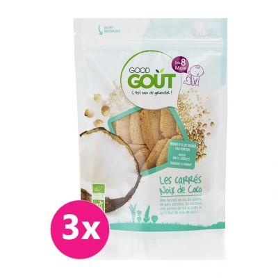 GOOD GOUT BIO Kokosové polštářky 3x50 g