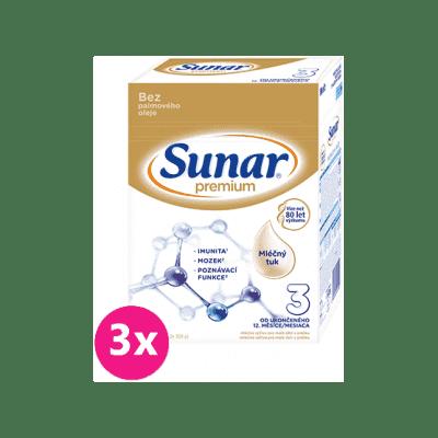 3x SUNAR Premium 3, 600 g