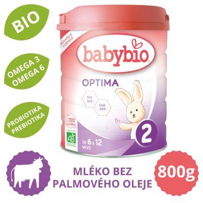 BABYBIO OPTIMA 2 kojenecké bio mléko (800 g)