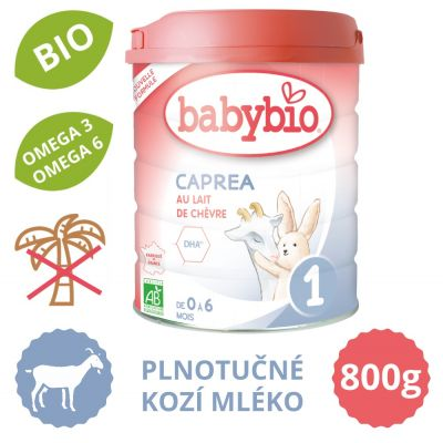 BABYBIO CAPREA 1 plnotučné kozí kojenecké bio mléko (800 g)
