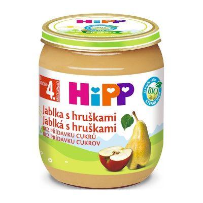HiPP BIO Jablka s hruškami od uk. 4. měsíce, 125 g