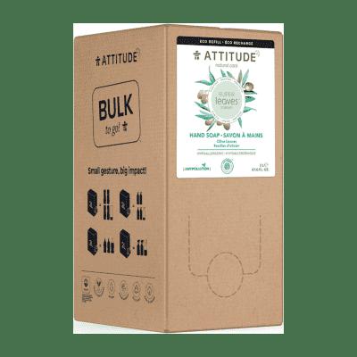 ATTITUDE Super leaves Přírodní mýdlo na ruce olivové listy detoxikační  - náhradní kanystr