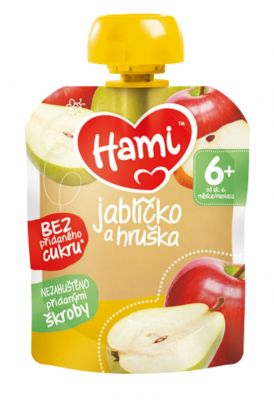 12x HAMI XXL ovocná kapsička Jablíčko a hruška 90 g, 6+