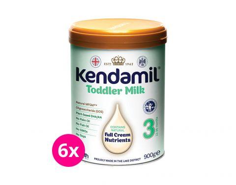 6x KENDAMIL Batolecí mléko 3 (900 g) DHA+