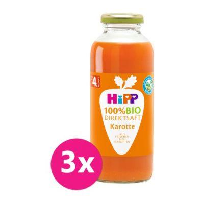 3x HiPP 100 % Bio Juice Karotková šťáva