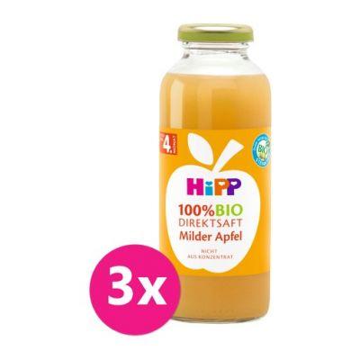 3x HiPP 100 % Bio Juice Jablečná šťáva
