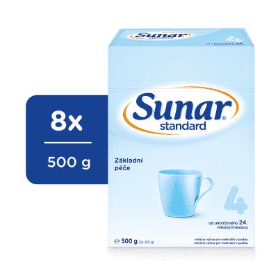 8 x SUNAR Kojenecké mléko Standard 4, 500 g