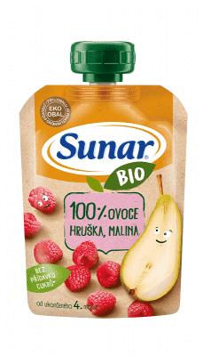 SUNAR BIO kapsička Hruška, malina 100 g