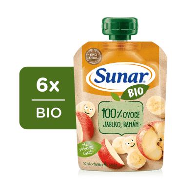 6x SUNAR BIO kapsička Jablko, banán 100 g