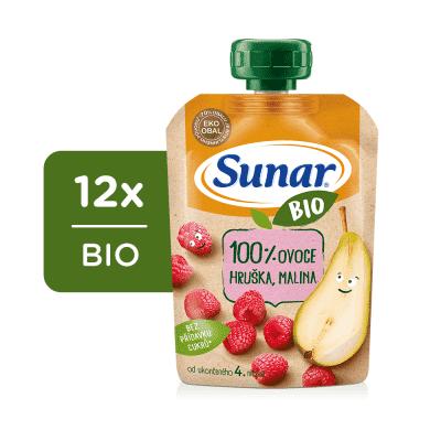 12x SUNAR BIO kapsička Hruška, malina 100 g