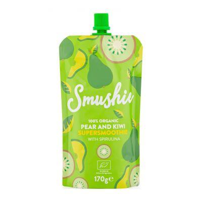 SALVEST Smushie BIO Ovocné smoothie s hruškou, kivi a spirulinou (170 g) EXPIRÁCIA 29.07.2021