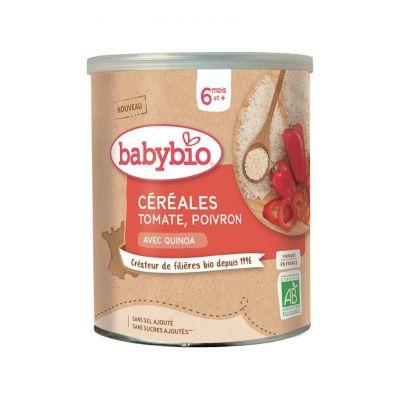 BABYBIO Zeleninová nemléčná kaše s rajčaty a paprikou (220 g)
