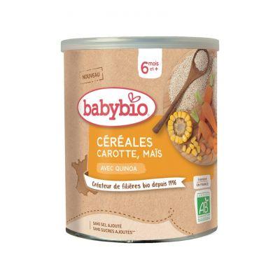 BABYBIO Zeleninová nemléčná kaše s mrkví a kukuřicí (220 g)