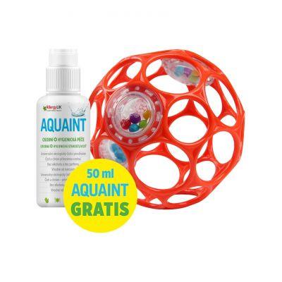 OBALL Hračka Oball RATTLE 10 cm 0m+ orange + 50 ml Aquaint