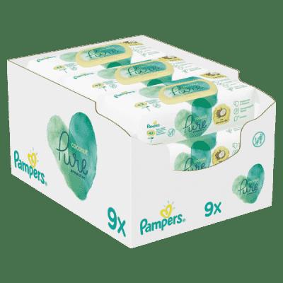PAMPERS Dětské Čisticí Ubrousky Coconut Pure 378ks (9x42)