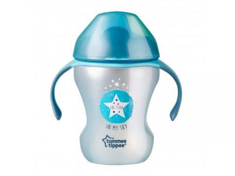 TOMMEE TIPPEE Netekoucí hrnek Explora Easy Drink 230 ml 6m+, modrý