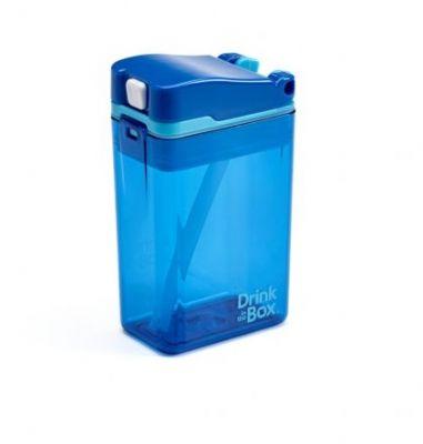 DRINK IN THE BOX Nápojová krabička 235 ml - Modrá