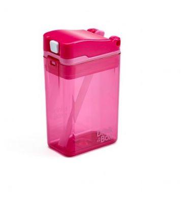 DRINK IN THE BOX Nápojová krabička 235 ml - růžová