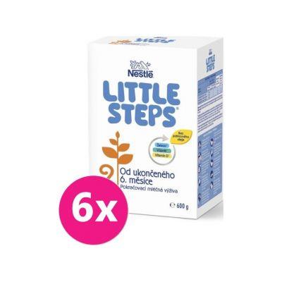 6x LITTLE STEPS 2 Následná mliečna výživa 600 g