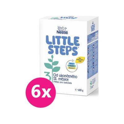 6x LITTLE STEPS 3 Mliečna výživa pre batoľatá 600 g