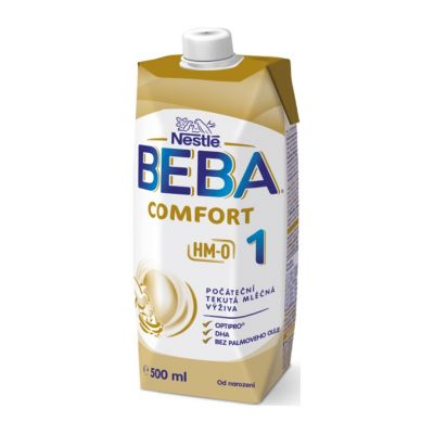 BEBA COMFORT 1 HM-O, Tekutá počiatočná mliečna výživa 0+, tetra pack, 500 ml