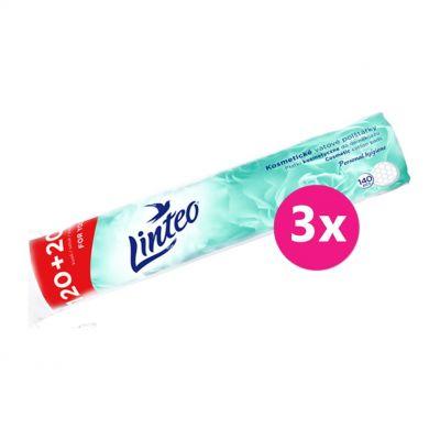 3x LINTEO Vatové polštářky Linteo 120 + 20 ks