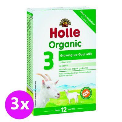 3x HOLLE Bio Dětská mléčná výživa na bázi kozího mléka, pokračovací formule 3