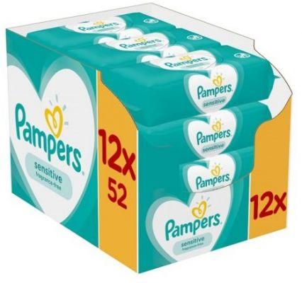 12 x PAMPERS Sensitive dětské vlhčené ubrousky