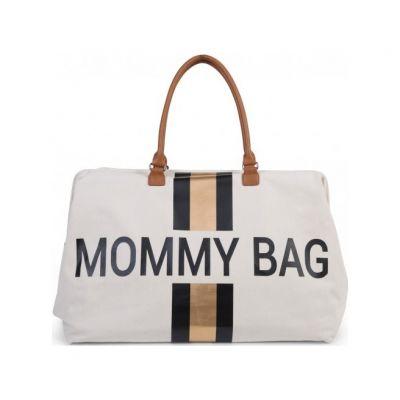 CHILDHOME Prebaľovacia taška Mommy Bag Big Off White / Black Gold
