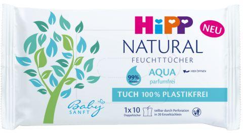 HiPP Babysanft Čistící vlhčené ubrousky Aqua Natural 10 ks