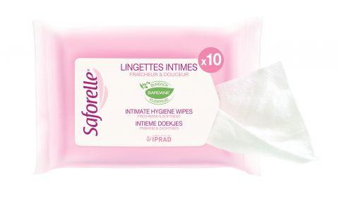 SAFORELLE Ubrousky pro intimní hygienu 10 ks