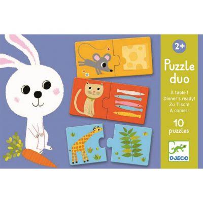 DJECO Duo Puzzle Co bude dnes k obědu?