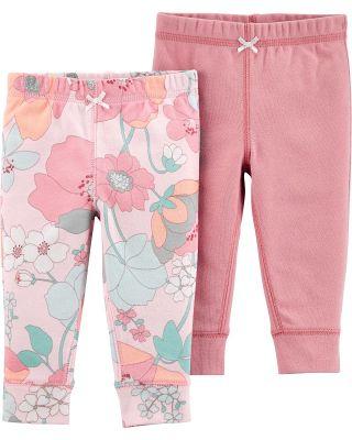 CARTER'S Kalhoty dlouhé Pink dívka LBB 2 ks 3 m/vel. 62