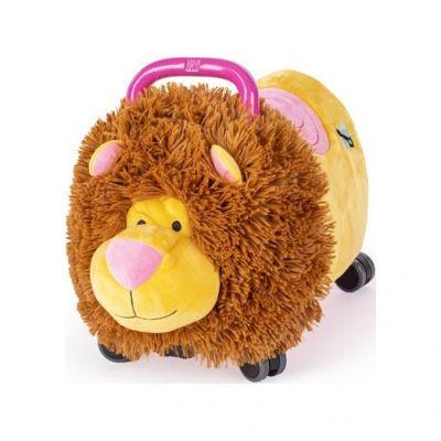TEDDIES Odrážedlo Funny wheels Rider Ride-On lvíček plyšový růžový 12 m+